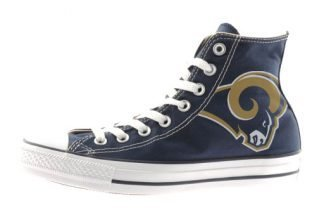 LA Rams Custom Converse Shoes Navy High by BandanaFever.com
