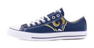 LA Rams Custom Converse Shoes Navy Low by BandanaFever.com