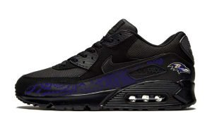 Baltimore Ravens Purple Bandana Custom Nike Air Max Shoes Black by BandanaFever.com
