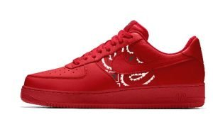 Red Bandana Custom Nike Air Force 1 Shoes Red Low Sides by BandanaFever.com
