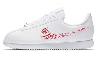 Red Bandana Custom Nike Cortez Shoes LWG Swoosh by BandanaFever.com