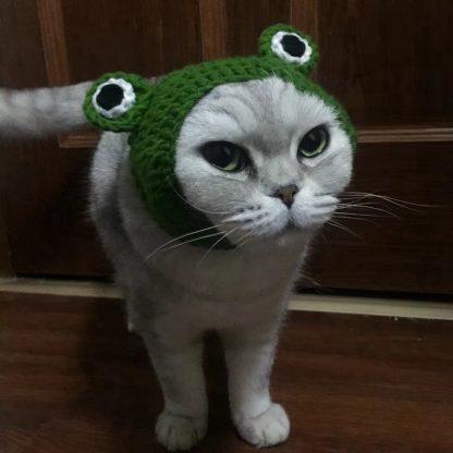 Frog Design Custom Pet Cap Green Cat by BandanaFever.com