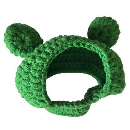 Frog Design Custom Pet Cap Green Front by BandanaFever.com