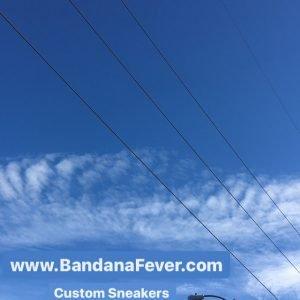 Bandana Fever Custom Sneakers Strange Clouds