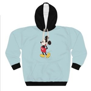Mickey Mouse Custom Hoodie Pullover Blue at BandanaFever.com