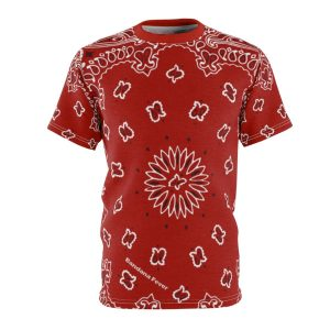 Red Bandana Custom T-Shirt SS Red by BandanaFever.com