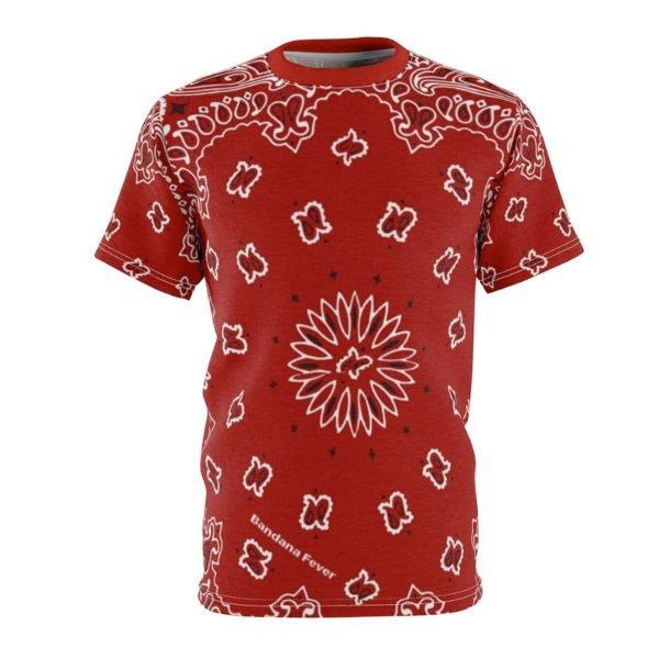 Red Bandana Custom T-Shirt SS Red by BandanaFever.com