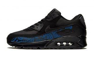 Royal Blue Bandana Custom Nike Air Max Shoes Black by BandanaFever.com
