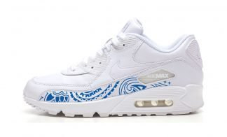 Royal Blue Bandana Custom Nike Air Max Shoes White by BandanaFever.com