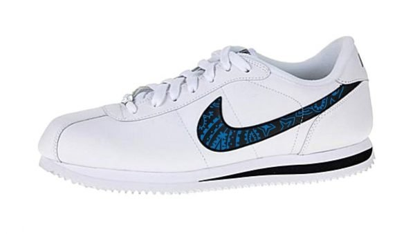 Royal Blue Bandana Custom Nike Cortez Shoes LWB Swoosh by BandanaFever.com