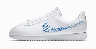Royal Blue Bandana Custom Nike Cortez Shoes LWG Swoosh by BandanaFever.com