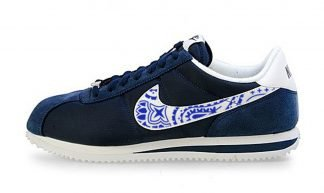 Royal Blue Bandana Custom Nike Cortez Shoes NNW Swoosh by BandanaFever.com
