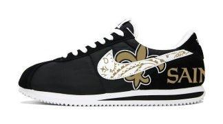 NOLA Saints Gold Bandana Custom Nike Cortez Shoes NBW Big by BandanaFever.com