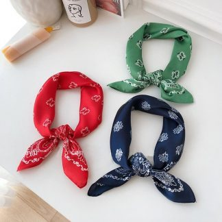 Silk Two-Tone Bandana Scarves – 8 Styles Red Blue Green by BandanaFever.com