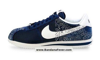 Bandana Fever Silver Bandana Custom Nike Cortez Shoes NNW Half at BandanaFever.com
