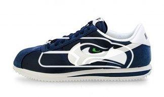 Seattle Seahawks Big Custom Nike Cortez Shoes NNW by BandanaFever.com