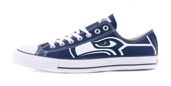 Seattle Seahawks Custom Converse Shoes Navy Low by BandanaFever.com