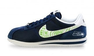 Seattle Seahawks Mini Green Bandana Custom Nike Cortez Shoes NNW by BandanaFever.com