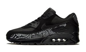 Silver Bandana Custom Nike Air Max Shoes Black by BandanaFever.com