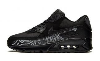 Silver Bandana Custom Nike Air Max Shoes Black by BandanaFever.com