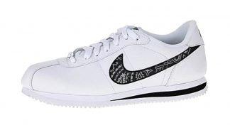 Silver Bandana Custom Nike Cortez Shoes LWB Swoosh by BandanaFever.com