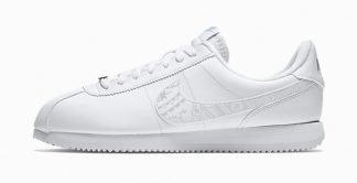 Silver Bandana Custom Nike Cortez Shoes LWG Swoosh by BandanaFever.com