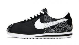 Silver Bandana Custom Nike Cortez Shoes NBW Half by BandanaFever.com