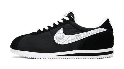 Silver Bandana Custom Nike Cortez Shoes NBW Swoosh by BandanaFever.com