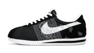 Silver Bandana Teardrops Custom Nike Cortez Shoes NBW Sides by BandanaFever.com