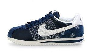 Silver Bandana Teardrops Custom Nike Cortez Shoes NNW Sides by BandanaFever.com