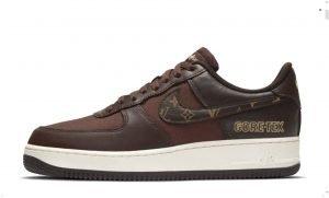 Gold Supreme LV Custom Nike Air Force 1 Shoes Brown Low Swoosh by BandanaFever.com