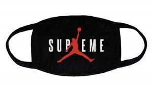 Supreme Air Jordan Custom Face Mask Black at BandanaFever.com