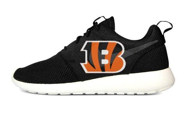 Cincinnati Bengals Custom Nike Roshe Shoes Black by BandanaFever.com