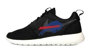 Buffalo Bills Custom Nike Roshe Shoes Black by BandanaFever.com