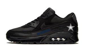 Dallas Cowboys Blue Custom Nike Air Max Shoes Black by BandanaFever.com
