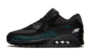 Philadelphia Eagles Green Bandana Custom Nike Air Max Shoes Black by BandanaFever.com