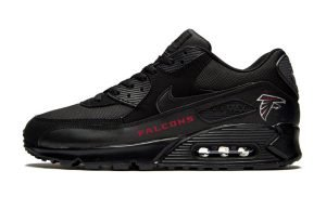 Atlanta Falcons Red Custom Nike Air Max Shoes Black by BandanaFever.com