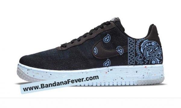 Bandana Fever Carolina Blue Bandana Custom Nike Air Force 1 Shoes Chambray Sides at BandanaFever.com