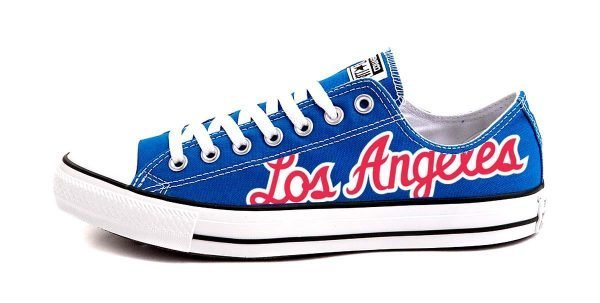 Clippers Throwback Custom Converse Shoes Blue Low by BandanaFever.com