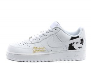 Michael Jackson Collectible Custom Nike Air Force 1 Shoes White Low by BandanaFever.com